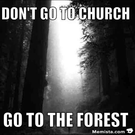 church forest deep black white memista meme generator keyboard