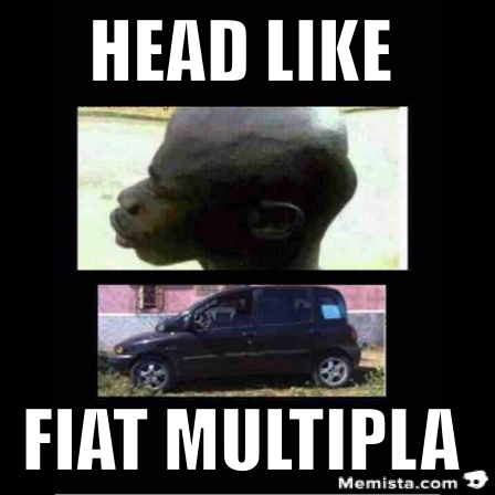 fiat multipla car head meme funny