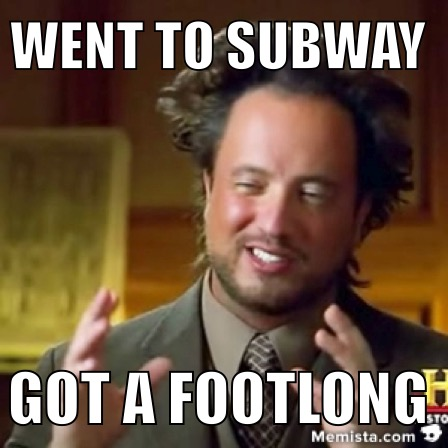 subway footlong funny meme wow